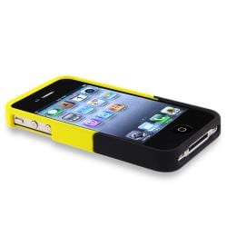 Yellow/ Black Case/ Privacy LCD Protector for Apple iPhone 4/ 4S - Thumbnail 2
