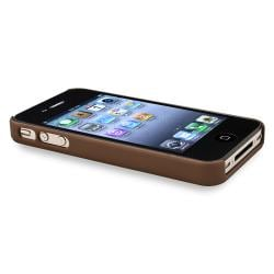 INSTEN Brown Diamond Phone Case Cover/ Screen Protector/ Wrap for Apple iPhone 4/ 4S - Thumbnail 1