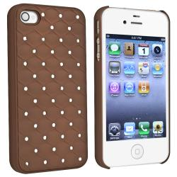 INSTEN Brown Diamond Phone Case Cover/ Screen Protector/ Wrap for Apple iPhone 4/ 4S