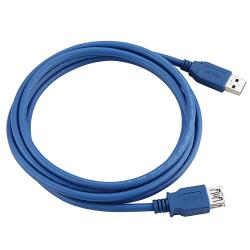 INSTEN 6-foot Blue USB 3.0 M/ F Type A to A Cable - Thumbnail 1