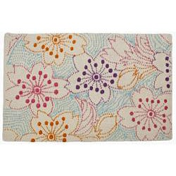 Jovi Home Meadow Hand-tufted Floral Cotton Rug (5' x 7')