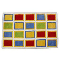 Jovi Home Hand-tufted Square Play Cotton Rug (5' x 7') - Thumbnail 1