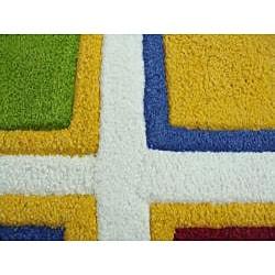 Jovi Home Hand-tufted Square Play Cotton Rug (5' x 7') - Thumbnail 2