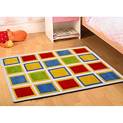 Jovi Home Hand-tufted Square Play Cotton Rug (5' x 7')