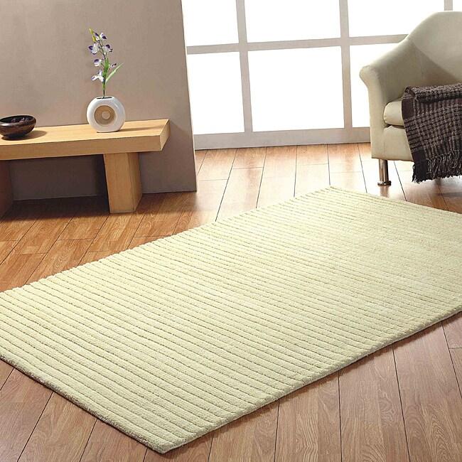 Jovi Home Hand-tufted Ivory Wool Rug (5' x 8')