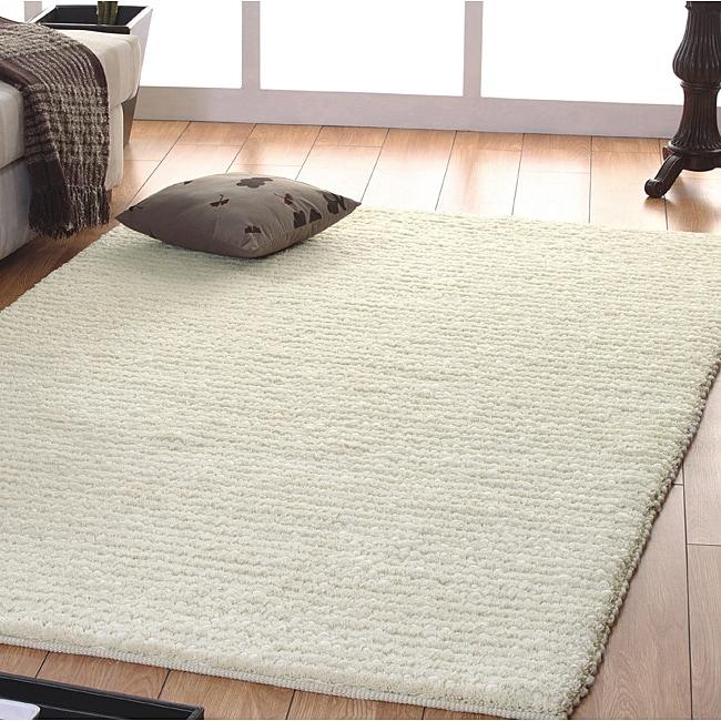 Jovi Home Handmade Off White Wool Rug 5 X 8 Free