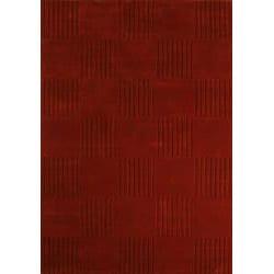 Jovi Home Vivacity Hand-tufted Red Wool Rug (4' x 6')