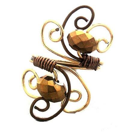 Metallic Bronze Spiraled Ring