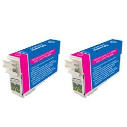 Epson T126 T126300 Remanufactured Magenta Ink Cartridges (Pack of 2) (Refurbished)