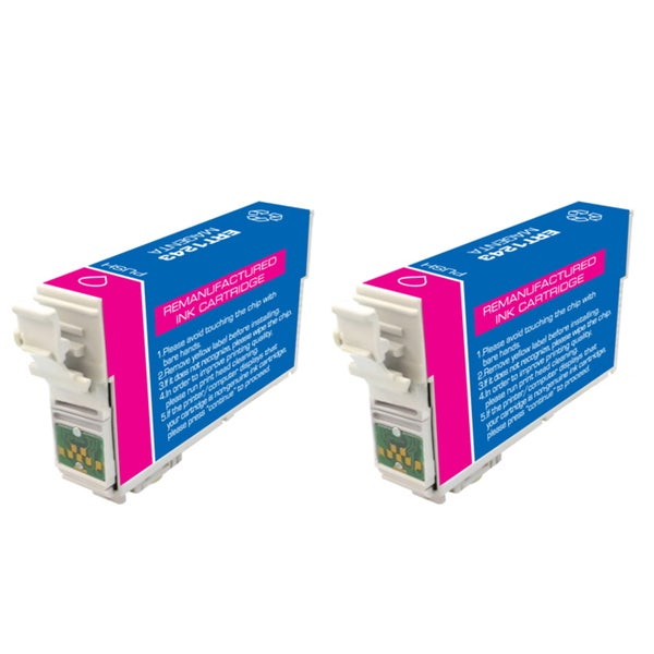 Epson T127 T127300 Remanufactured Magenta Ink Cartridges (Pack of 2)