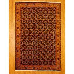 Herat Oriental Indo Hand-knotted Tabriz Wool Rug (6' x 9')