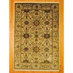 Herat Oriental Indo Hand-knotted Mahal Wool Rug (6' x 9')