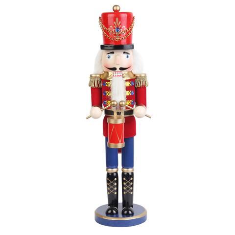 Red 18-inch Drummer Soldier Nutcracker