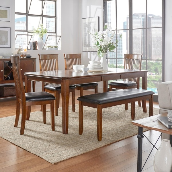 Winsford Burnished Cherry 6-piece Dining Set by TRIBECCA HOME