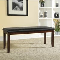 Winsford Burnished Cherry 48-inch Cushioned Transitional Dining Bench by iNSPIRE Q Classic