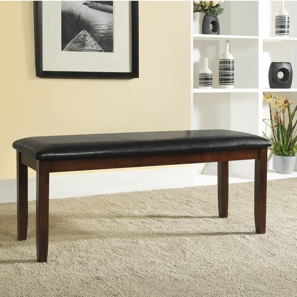 Winsford Burnished Cherry 48-inch Cushioned Transitional Bench by TRIBECCA HOME