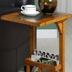 St. Ives Oak Chairside Table - Thumbnail 1
