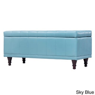INSPIRE Q St Ives Lift Top Faux Leather Tufted Storage Bench