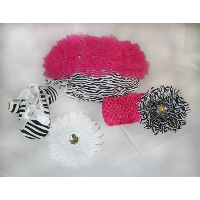 Just Girls Zebra Baby Bloomer Set