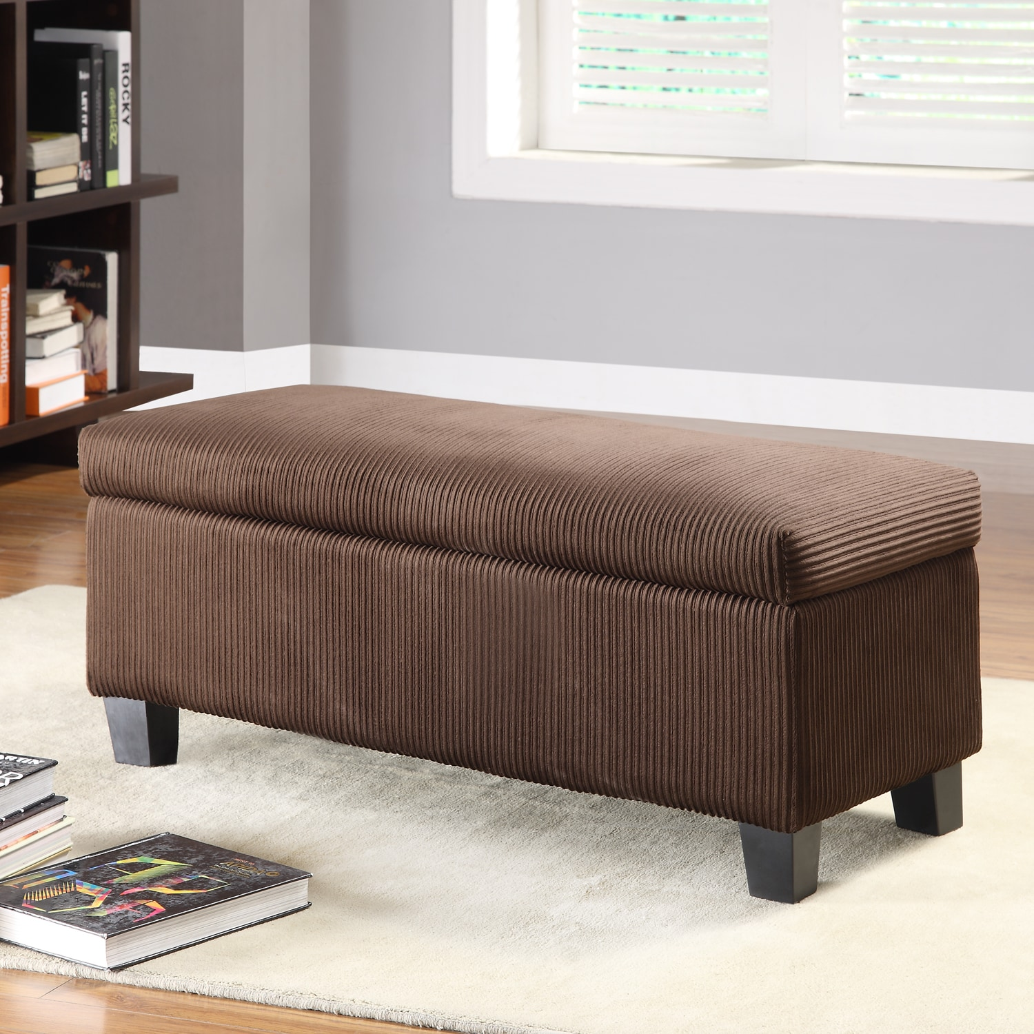 TRIBECCA HOME Oakford Lift Top Storage Bench