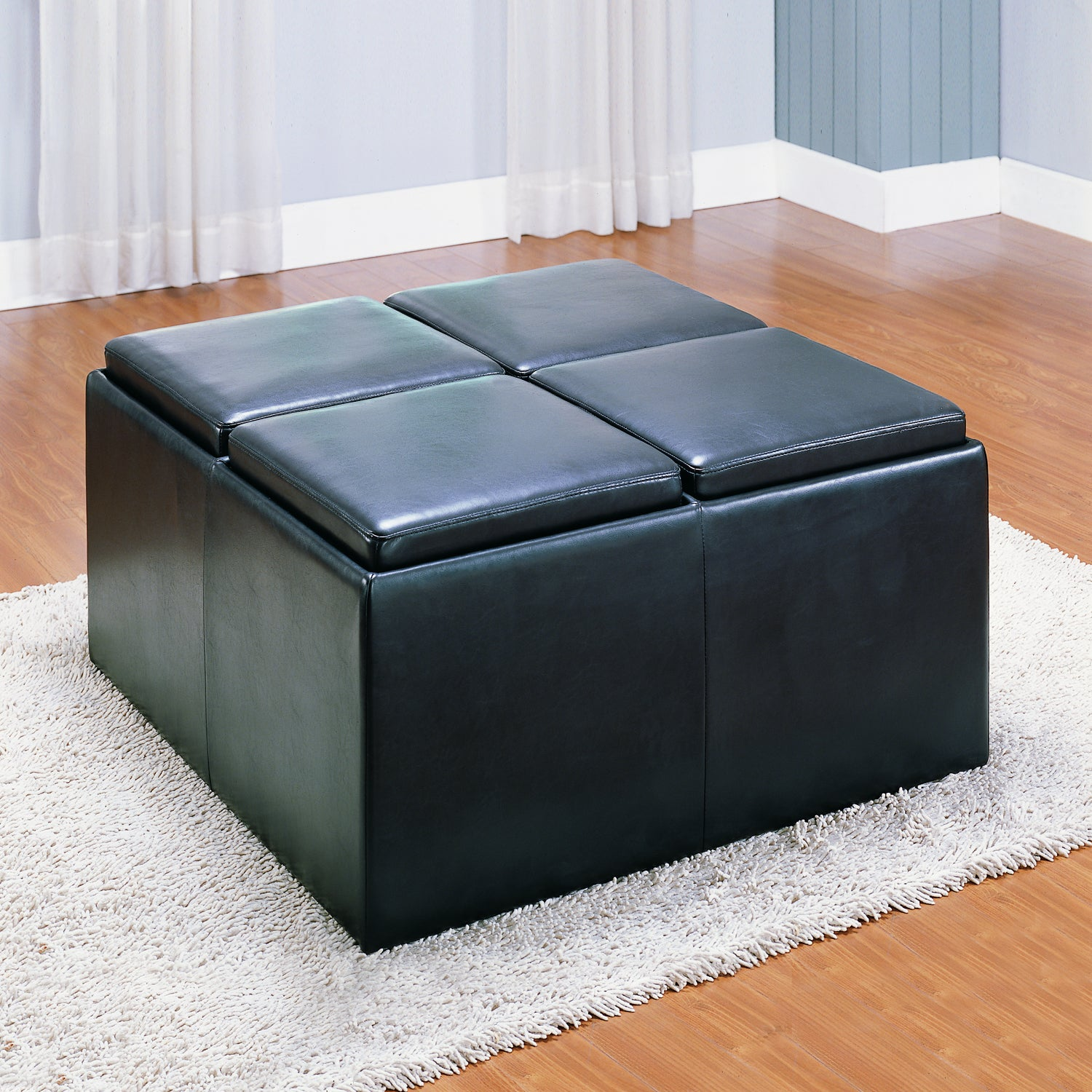 Oakford Bench with Ottoman and Trays