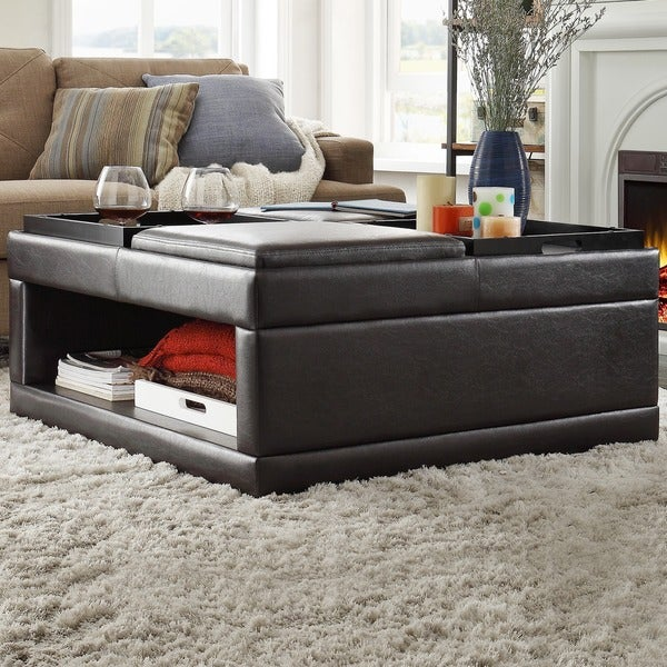 St Ives Tail Storage Ottoman With Flip Tray By Inspire Q Clic
