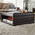 St Ives Cocktail Storage Ottoman with Flip Tray