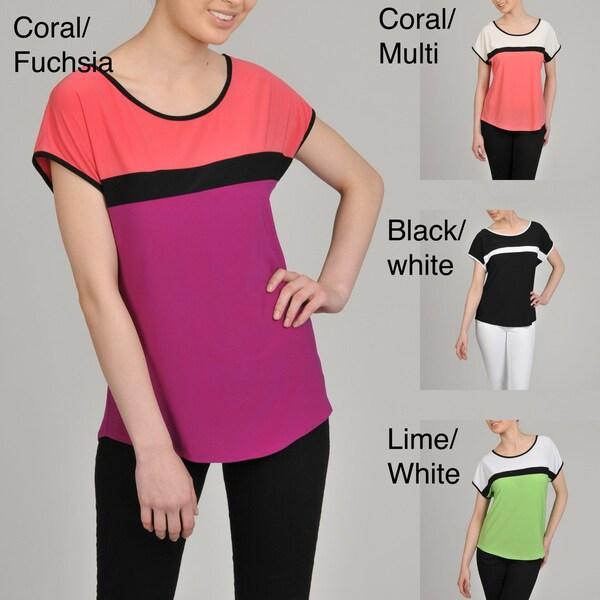 AnnaLee + Hope Women's Color-blocked Jersey Top