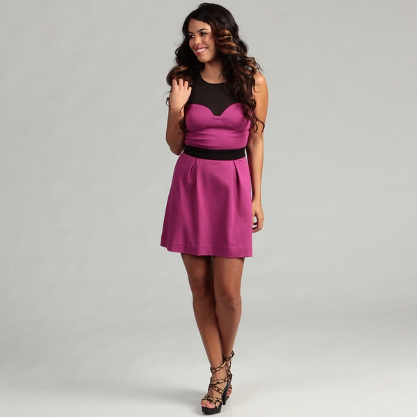 Jessica Simpson Junior's Sheer Colorblock Dress