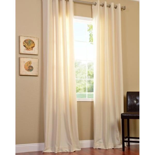 Exclusive Fabrics Cotenza Vanilla Faux Cotton Grommeted Curtain Panel