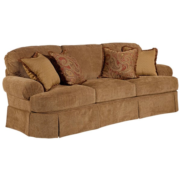 Broyhill 'McKenna' Stucco Beige Sofa and Accent Pillows