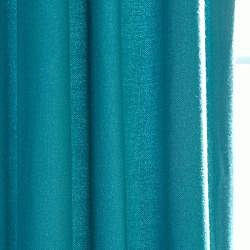 Exclusive Fabrics Cotenza Turquoise Faux Cotton Grommeted Curtain Panel