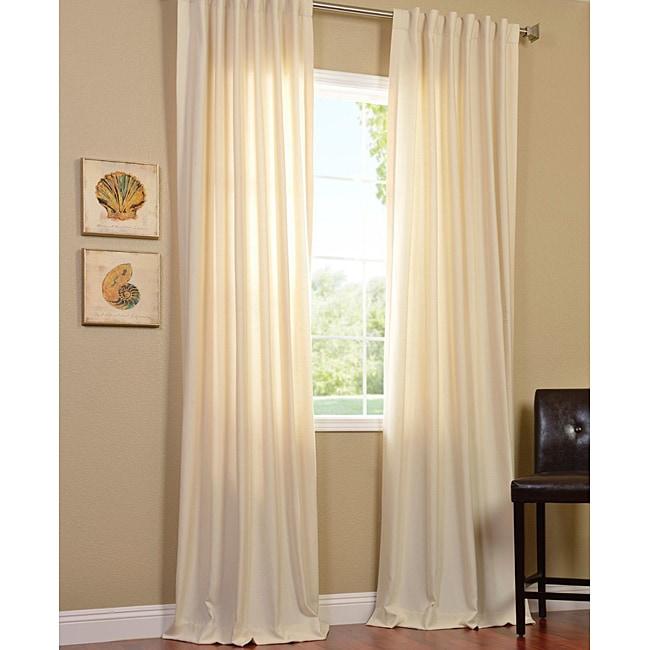Exclusive Fabrics Cotenza Vanilla Faux Cotton Curtain Panel