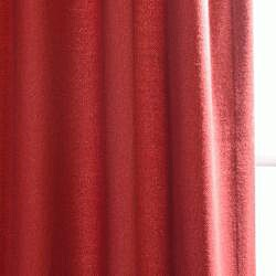 Exclusive Fabrics Cotenza Salsa Faux Cotton Grommeted Curtain Panel