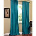 Exclusive Fabrics Cotenza Turquoise Faux Cotton Curtain Panel