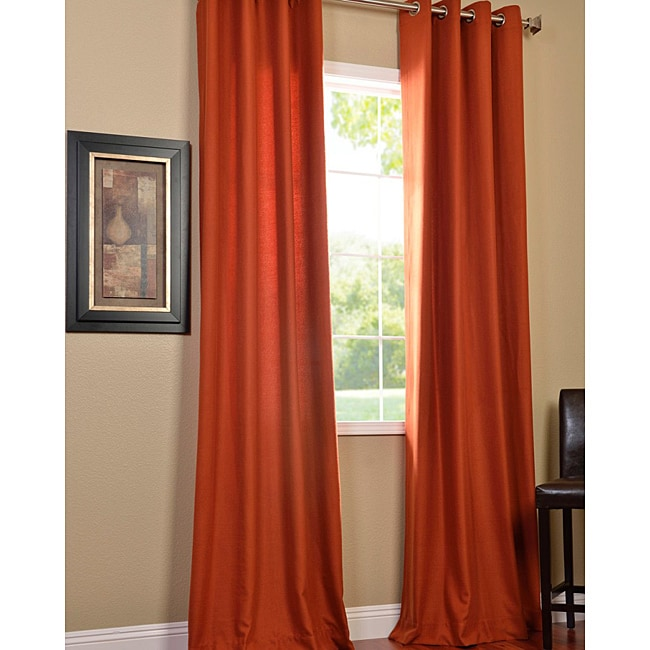 Exclusive Fabrics Rusty Faux Cotton Cotenza Grommet-Style Curtain Panel