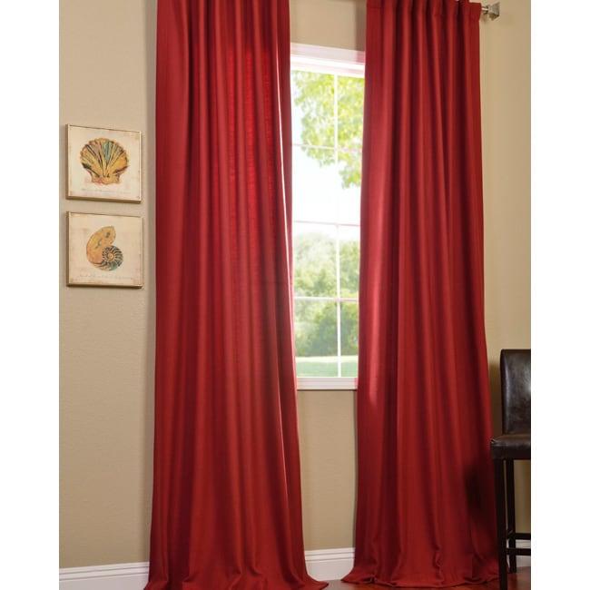 Exclusive Fabrics Cotenza Salsa Faux Cotton Curtain Panel