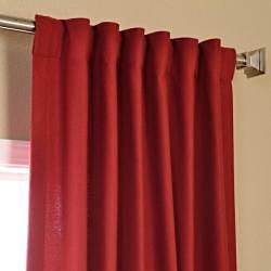 Exclusive Fabrics Cotenza Salsa Faux Cotton Curtain Panel - Thumbnail 1