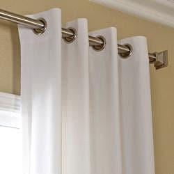 Exclusive Fabrics Polar White Faux Cotton Cotenza Window Curtain Panel - Thumbnail 1