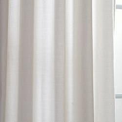 Exclusive Fabrics Polar White Faux Cotton Cotenza Window Curtain Panel - Thumbnail 2