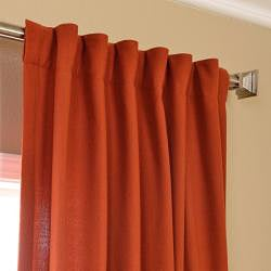 Exclusive Fabrics Rusty Faux Cotton Cotenza Curtain Panel