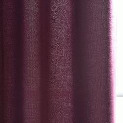 Exclusive Fabrics Grape Velvet Cotenza Curtain Panel