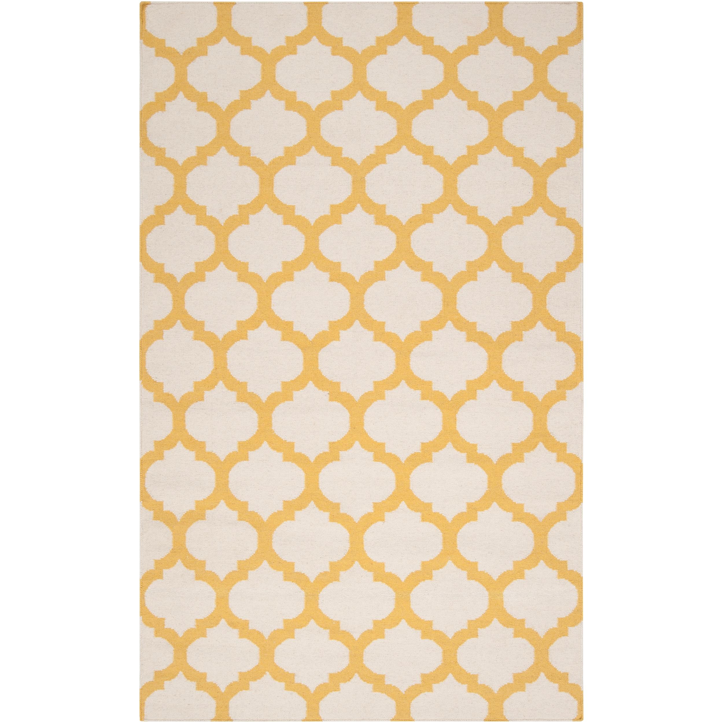 Hand-woven Yellow Caroni Wool Area Rug (8' x 11')