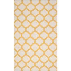 Hand-woven Yellow Caroni Wool Rug (8' x 11')
