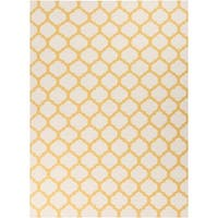 Hand-woven Yellow Caroni Wool Area Rug - 8' X 11'