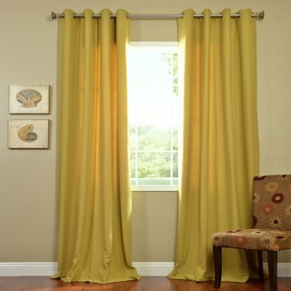 Exclusive Fabrics Citron Cotenza Grommet Curtain Panel