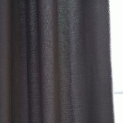 Exclusive Fabrics Charcoal Cotenza Faux Cotton Grommet Curtain Panel
