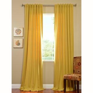Exclusive Fabrics Citron Cotenza Faux Cotton Curtain Panel