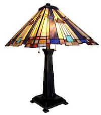 Chloe Tiffany Style Mission Design 2-light Table Lamp