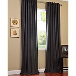 Exclusive Fabrics Charcoal Cotenza Faux Cotton Curtain Panel